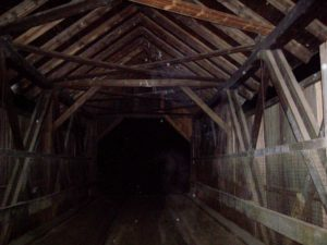 The Haunted Covered Bridge near Stowe, Vermont